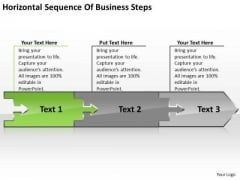 Sequence Of Free Business PowerPoint Templates Steps Work Flow Charts