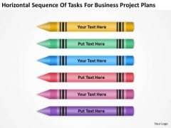 Sequence Of Tasks For Business Project Plans Ppt Small Planning PowerPoint Slides