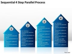 Sequential 4 Step Parallel Process Business Plan Consultant PowerPoint Slides