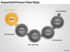 Sequential Process Flow Steps What Is Business Continuity Plan PowerPoint Templates