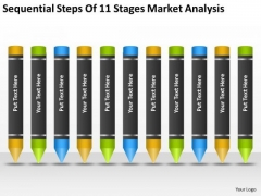 Sequential Steps Of 11 Stages Market Analysis Ppt Business Plan Experts PowerPoint Slides