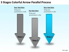 Serial And Parallel Processing 3 Stages Colorful Arrow Ppt PowerPoint Templates
