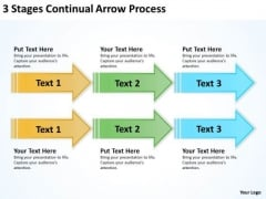 Serial Processing Vs Parallel 3 Stages Continual Arrow PowerPoint Templates