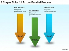 Serial Processing Vs Parallel Colorful Arrow PowerPoint Templates