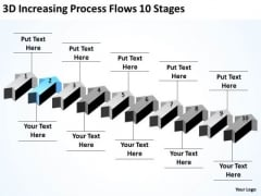 Serial Processing Vs Parallel Increasing Flows 10 Stages PowerPoint Slides