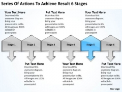 Series Of Actions To Achieve Result 6 Stages Business Plan Program PowerPoint Templates