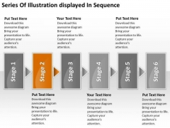 Series Of Illustration Displayed In Sequence Business Plan PowerPoint Templates