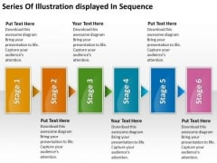 Series Of Illustration Displayed In Sequence Workflow Management Slides PowerPoint