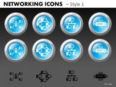 Server Networking Icons PowerPoint Slides