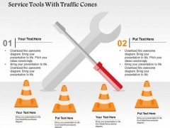 Service Tools With Traffic Cones PowerPoint Templates