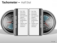 Services Tachometer Half Dial PowerPoint Slides And Ppt Diagram Templates