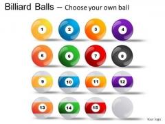Set Billiard Balls PowerPoint Slides And Ppt Diagram Templates