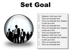 Set Goal Business PowerPoint Presentation Slides C