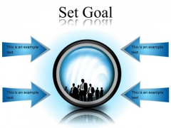 Set Goal Business PowerPoint Presentation Slides Cc