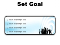 Set Goal Business PowerPoint Presentation Slides R