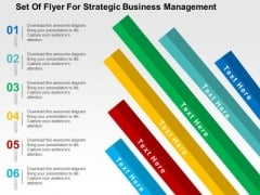 Set Of Flyer For Strategic Business Management PowerPoint Template