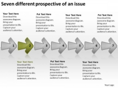 Seven Different Prospective Of An Issue Business Plan Outline Example PowerPoint Templates