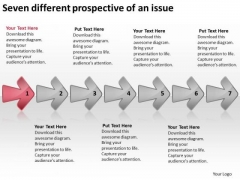 Seven Different Prospective Of An Issue Examples Business Plan Outline PowerPoint Templates