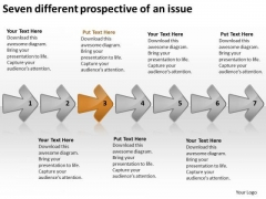 Seven Different Prospective Of An Issue Outline Business Plan PowerPoint Slides