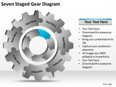 Seven Staged Gear Diagram Ppt Business Plan PowerPoint Slides