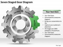 Seven Staged Gear Diagram Ppt How To Prepare Business Plan PowerPoint Templates