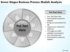 Seven Stages Business Process Models Analysts Plan Maker PowerPoint Templates