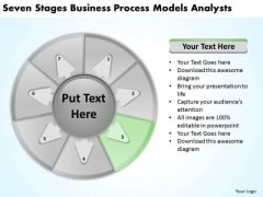 Seven Stages Business Process Models Analysts Plan PowerPoint Templates