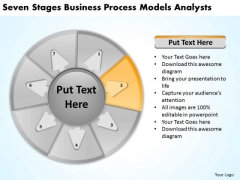 Seven Stages Business Process Models Analysts Plans Start Up PowerPoint Templates