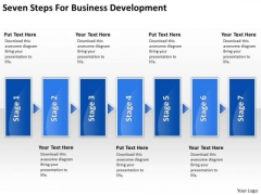 Seven Steps For Business Development Workflow Management Slides PowerPoint