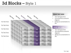 Shadow 3d Blocks 1 PowerPoint Slides And Ppt Diagram Templates