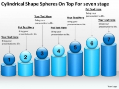 Shape Spheres On Top For Seven Stage Ppt Sample Business Development Plan PowerPoint Slides