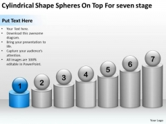 Shape Spheres On Top For Seven Stage Ppt Startup Business Plan Outline PowerPoint Slides