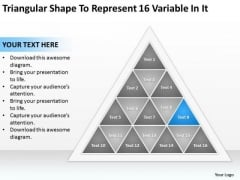 Shape To Represent 16 Variable In It Business Continuity Plan Sample PowerPoint Templates