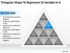 Shape To Represent 16 Variable In It Ppt Business Plan Downloads PowerPoint Slides