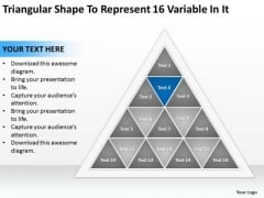 Shape To Represent 16 Variable In It Ppt Example Business Plan PowerPoint Templates
