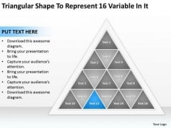 Shape To Represent 16 Variable In It Ppt Format Business Plan PowerPoint Templates