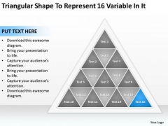 Shape To Represent 16 Variable In It Ppt Frozen Yogurt Business Plan PowerPoint Slides
