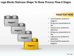 Shape To Show Process Flow 4 Stages Ppt Professional Business Plan Writers PowerPoint Slides