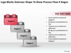 Shape To Show Process Flow 4 Stages Ppt Sample Business Plan Template PowerPoint Templates