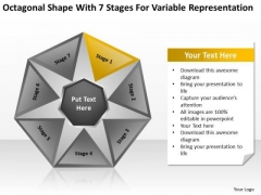 Shape With 7 Stages For Variable Representation Ppt Standard Business Plan PowerPoint Slides
