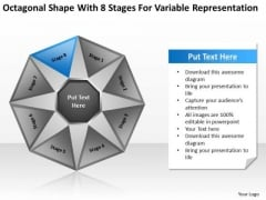 Shape With 8 Stages For Variable Representation Ppt Business Plan Companies PowerPoint Templates