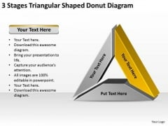 Shaped Donut Diagram Data Comparison It Business Plan Template PowerPoint Templates