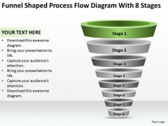 Shaped Process Flow Diagram With 8 Stages Ppt Business Executive Summary PowerPoint Templates