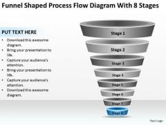 Shaped Process Flow Diagram With 8 Stages Ppt Real Estate Agent Business Plan PowerPoint Slides