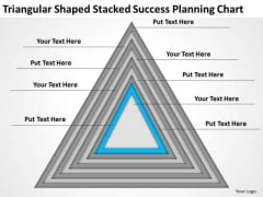 Shaped Stacked Success Planning Chart Ppt Business Samples PowerPoint Templates