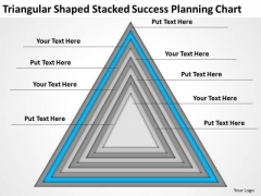 Shaped Stacked Success Planning Chart Ppt How To Present Business PowerPoint Slides