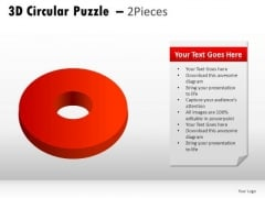 Shapes 3d Circular Puzzle 2 Pieces PowerPoint Slides And Ppt Diagram Templates