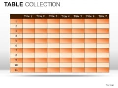 Shapes Table Collection PowerPoint Slides And Ppt Diagram Templates