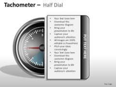 Shapes Tachometer Half Dial PowerPoint Slides And Ppt Diagram Templates