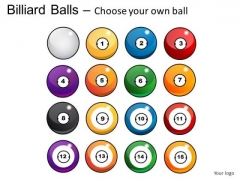 Shiny Billiard Balls With Cue PowerPoint Slides And Ppt Diagram Templates